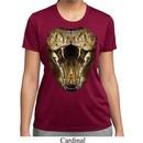 Ladies Snake Shirt Big Cobra Snake Face Moisture Wicking Tee T-Shirt