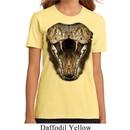 Ladies Snake Shirt Big Cobra Snake Face Organic T-Shirt