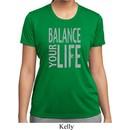 Ladies Yoga Shirt Balance Your Life Moisture Wicking Tee T-Shirt