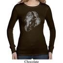 Ladies Yoga Shirt Ganesha Profile Long Sleeve Thermal Tee T-Shirt