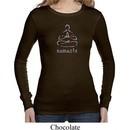 Ladies Yoga Shirt Namaste Lotus Pose Long Sleeve Thermal Tee T-Shirt