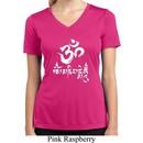 Ladies Yoga Shirt OM Mani Padme Hum Moisture Wicking V-neck Tee