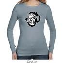 Ladies Yoga Shirt Om Mashup Long Sleeve Thermal Tee T-Shirt