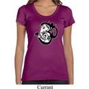 Ladies Yoga Shirt Om Mashup Scoop Neck Tee T-Shirt