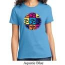 Ladies Yoga Shirt Pop Art Om Tee T-Shirt
