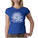 Ladies Yoga T-shirt Lotus Flower Crew Neck Shirt