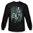 Leave it to Beaver Shirt Up To Something Long Sleeve Black Tee T-Shirt