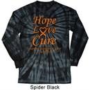 Leukemia Cancer Awareness Hope Love Cure Long Sleeve Tie Dye