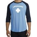 Lifeguard T-Shirt Adult Raglan 3/4 Sleeve
