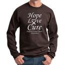 Lung Cancer Sweatshirt Hope Love Cure Sweat Shirt