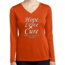 Lung Cancer Tee Hope Love Cure Ladies Dry Wicking Long Sleeve