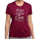 Lung Cancer Tee Hope Love Cure Ladies Dry Wicking T-shirt