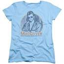 MacGyver Womens Shirt Title Light Blue T-Shirt