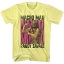 Macho Man Shirt Flexing Yellow T-Shirt