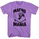 Macho Man Shirt Macho Mania Heather Purple Tee T-Shirt