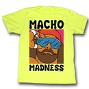 Macho Man Shirt Madness Adult Yellow Tee T-Shirt