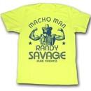 Macho Man Shirt Pure Madness Adult Yellow Tee T-Shirt