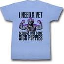 Macho Man Shirt Sick Puppies Adult Light Blue Tee T-Shirt