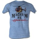 Magnum PI T-shirt Flyin Solo Adult Light Blue Tee Shirt