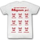 Magnum PI T-shirt Oh Yeah Classic Adult White Tee Shirt