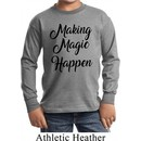 Making Magic Happen Black Print Kids Long Sleeve Shirt