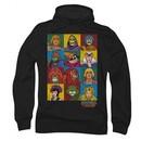Masters Of The Universe Hoodie Sweatshirt Character Heads Black Adult Hoody