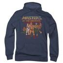 Masters Of The Universe Hoodie Sweatshirt Team Of Heroes Navy Adult Hoody