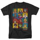 Masters Of The Universe Shirt Character Heads Adult Black Tee T-Shirt