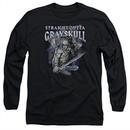 Masters Of The Universe Shirt Long Sleeve Straight Outta Grayskull Black Tee T-Shirt