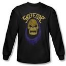 Masters Of The Universe Shirt Skeletor Hood Long Sleeve Black Tee