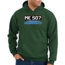 50th Birthday Hooded Hoodie Funny Me 50 Years Dark Green Hoody