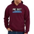 50th Birthday Hooded Hoodie Funny Me 50 Years Maroon Hoody Sweatshirt