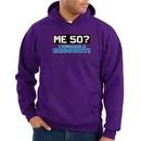 50th Birthday Hooded Hoodie Funny Me 50 Years Purple Hoody Sweatshirt
