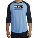 50th Birthday Raglan Shirt Funny Me 50 Years Carolina Blue/Navy Tee