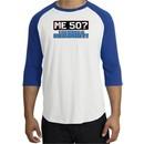 50th Birthday Raglan Shirt Funny Me 50 Years White/Royal Tee Shirt