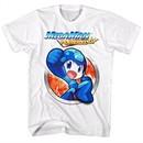 Mega Man Shirt Powered Up White T-Shirt