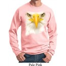 Mens Bald Eagle Sweatshirt Big Bald Eagle Face Sweat Shirt