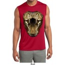 Mens Big Cobra Snake Face Sleeveless Moisture Wicking Tee T-Shirt