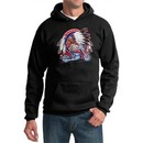 Mens Biker Hoodie Big Chief Indian Motorcycle Hoody