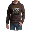 Mens Biker Hoodie Who Let The Hawgs Out Hoody