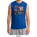 Mens Biker Shirt American Pride Motorcycle Muscle Tee T-Shirt
