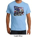 Mens Biker Shirt American Pride Motorcycle Organic Tee T-Shirt