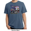 Mens Biker Shirt American Pride Motorcycle Pigment Dyed Tee T-Shirt