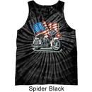 Mens Biker Shirt Motorcycle Flag Tank Tie Dye Tee T-shirt