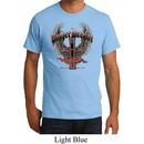Mens Biker Shirt Prayer Warrior Organic Tee T-Shirt
