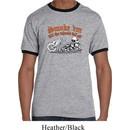 Mens Biker Shirt Smoke Em Ringer Tee T-Shirt