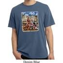 Mens Biker Shirt Sturgis Indian Pigment Dyed Tee T-Shirt