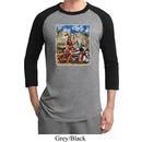 Mens Biker Shirt Sturgis Indian Raglan Tee T-Shirt