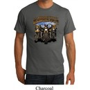 Mens Biker Shirt Who Let The Hawgs Out Organic Tee T-Shirt