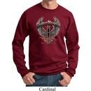 Mens Biker Sweatshirt Prayer Warrior Sweat Shirt